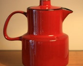 Vintage 1970s Melitta Ceracron Coffee Pot In Deep Red