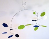 Hanging Mobile, Baby Mobile, Modern Crib Mobile - The Solar Flare, in Electric Blue