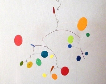 Playroom Decor // Baby Mobile // Nursery Mobile // Modern Baby Mobile - The Constellation, medium, in Spectrum