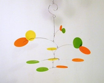 Baby Mobile for Changing Table, Crib Mobile, Nursery Decor, Baby Gift - The Petite Nebula Mobile, in Citrus