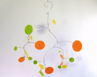 Hanging Crib Mobile, Modern Mobile, Baby Mobile - The Constellation, medium, in Citrus