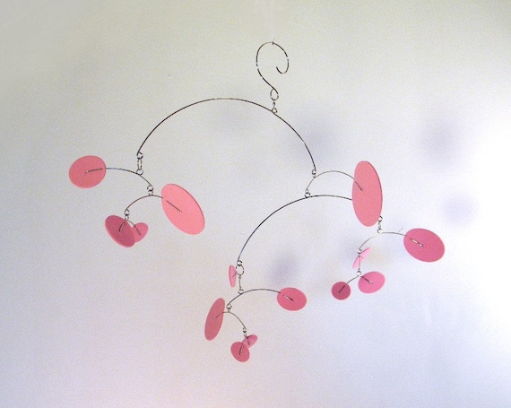 Baby Crib Mobile, Baby Girl Mobile, Pink Nursery Decor - The Constellation, in light pink, small size