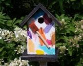 Birdhouse Various Colors Sponge Brush Birdhouse