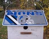 Detroit Lions Football License Plate Birdhouse NFL