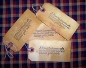 Primitive hang tags A FRIEND IS / Price Includes Shipping