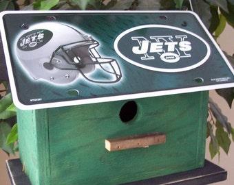 New York Jets License Plate  Birdhouse Football NFL