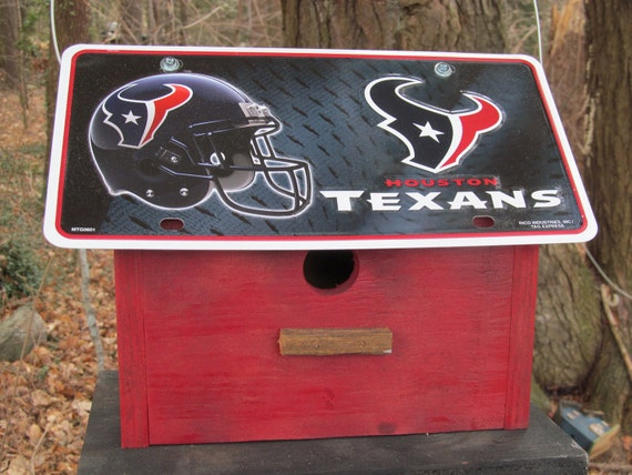 Holiday Special  Save 20% Houston Texans Football License Plate Birdhouse Primitive