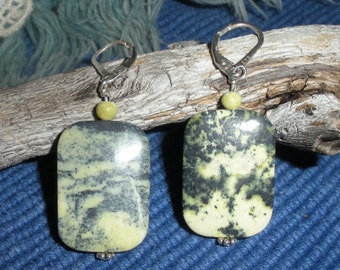 Marbled Yellow Turquoise Earrings