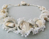 Champagne Ruffle Necklace