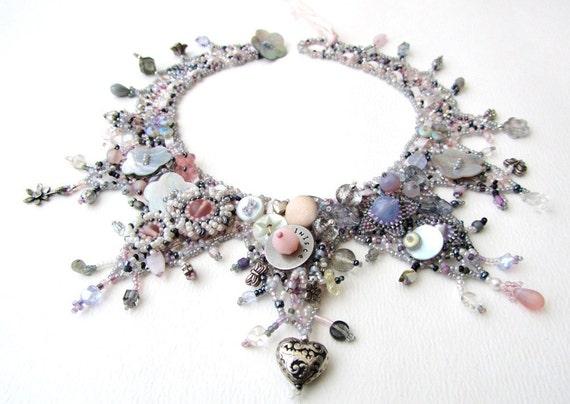 Beadweaving Tutorial No. 18 - Marie Antoinette Collar, DIY Beading Pattern, Statement Necklace Design