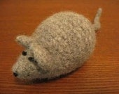 RESERVED for birchen - BROWN Felted Crochet Cat Toy