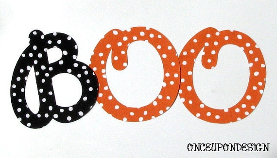BOO Iron On Letter Appliques