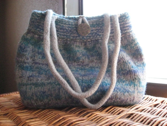 Grey with Multi Color Felted Bubble Bag