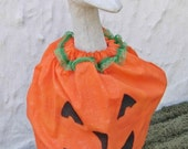 """Goose pumpkin in sparkle fabric for 18"""" cement geese"""