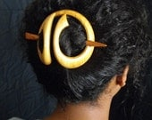 Wooden  Handcrafted Hair Jewelry Ornament Long Hair Maple