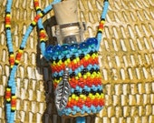 Native american beaded Time in bottle