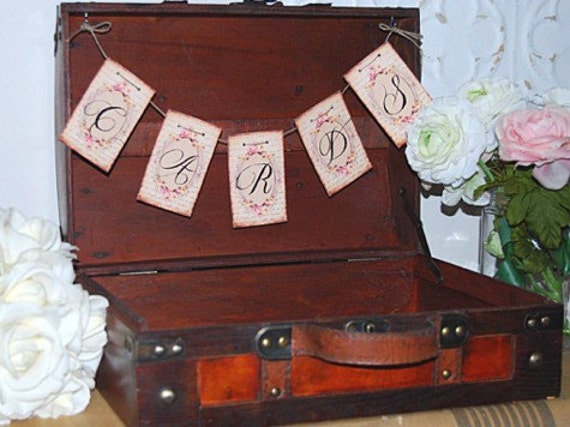 Vintage Trunk Wedding Card Box Rustic Wedding Card Box