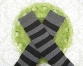 Baby Leg Warmers- Black and Dark Gray- Choose your size