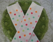 Baby Leg Warmers- White Colorful Polka Dots- made to order