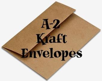 10 Brown Bag Kraft Envelopes