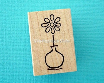 Bud Vase Rubber Stamp