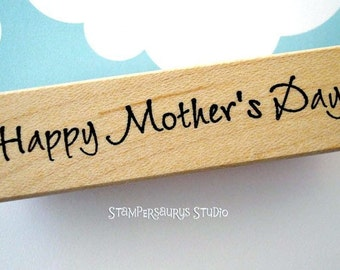 Happy Mothers Day rubber stamp
