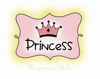 PRINCESS Clear Rubber Stamp
