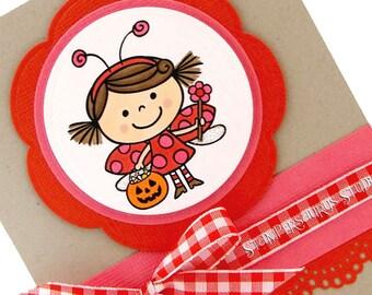 Trick or Treater Ladybug Card