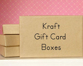 KRAFT Gift Card Boxes