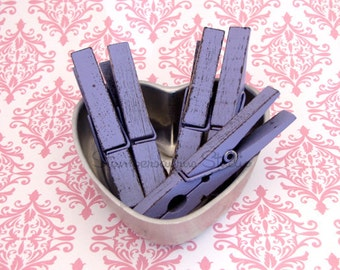 SHABBY PURPLE Clothespins