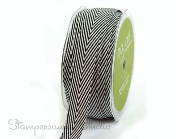 "3YDS of 3/4"" CHEVRON Stripe Ribbon"