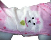 Pink Puppy Love Flannel Dog Coat XS