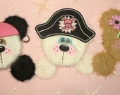 Girly PIRATE Peek-a-Boo Tear Bears - Caribbean - GIRL