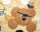 PIRATE Peek-a-Boo Tear Bear Set of 3