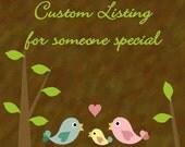 Custom Listing for lissiebeth