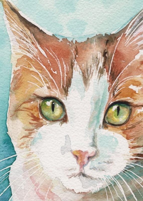 Thomas - ACEO signed cat art print