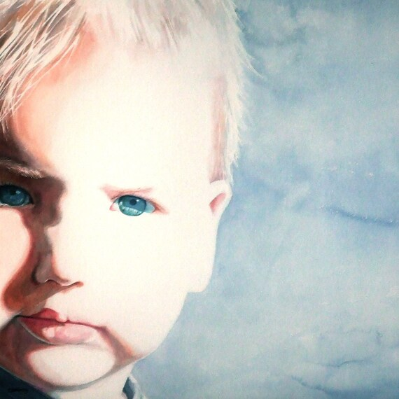 Custom Watercolor Portrait from your photo - small format