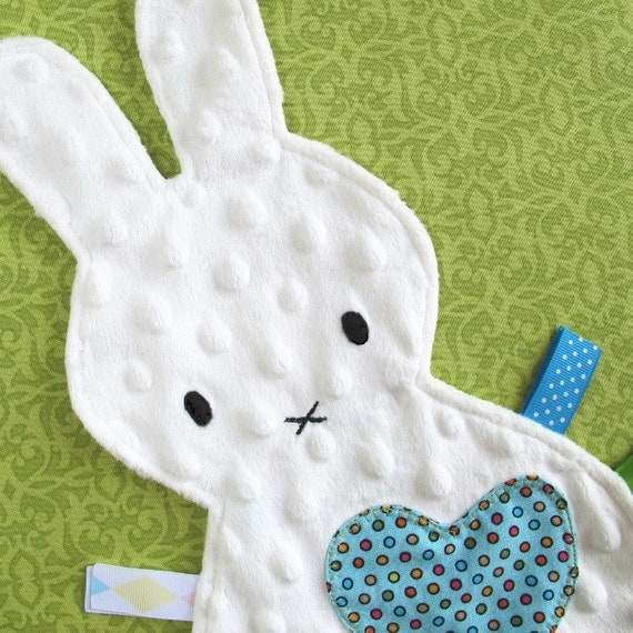 Bunny Tag Blanket Lovey Toy