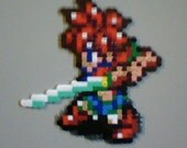 Beadsprite Magnet - Chrono Trigger - Crono - Battle Pose