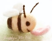 Custom Made Needle Felted Little Bumble Bee (Reserve for Hannahc11)