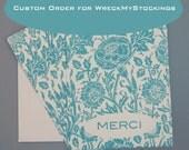 Custom Order for wreckmystockings