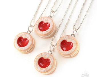 Scented Heart Cookie Necklace, Clay Food Jewelry, Valentine's Day Gift, Gift for Foodie, Birthday Gift For Her, Foodie Necklace, Foodie Gift