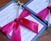 RESERVED - 12 Will You Be My Flower Girl Invitation, Cinderella Wedding Invitation, Princess Party Invitation
