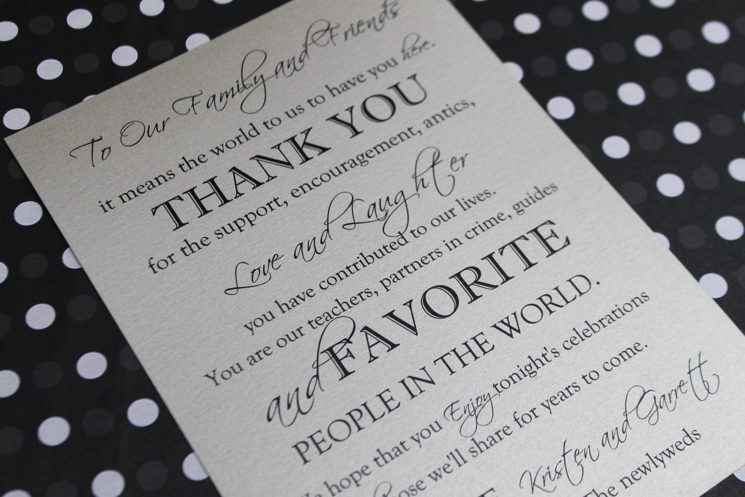 thank you for coming to our wedding sign 5 by by