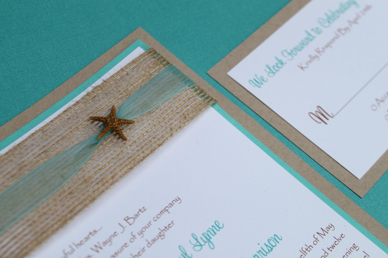 Beach Theme Wedding Invitation: Beach Wedding Invitation Seaside Elegant By Decadentdesigns