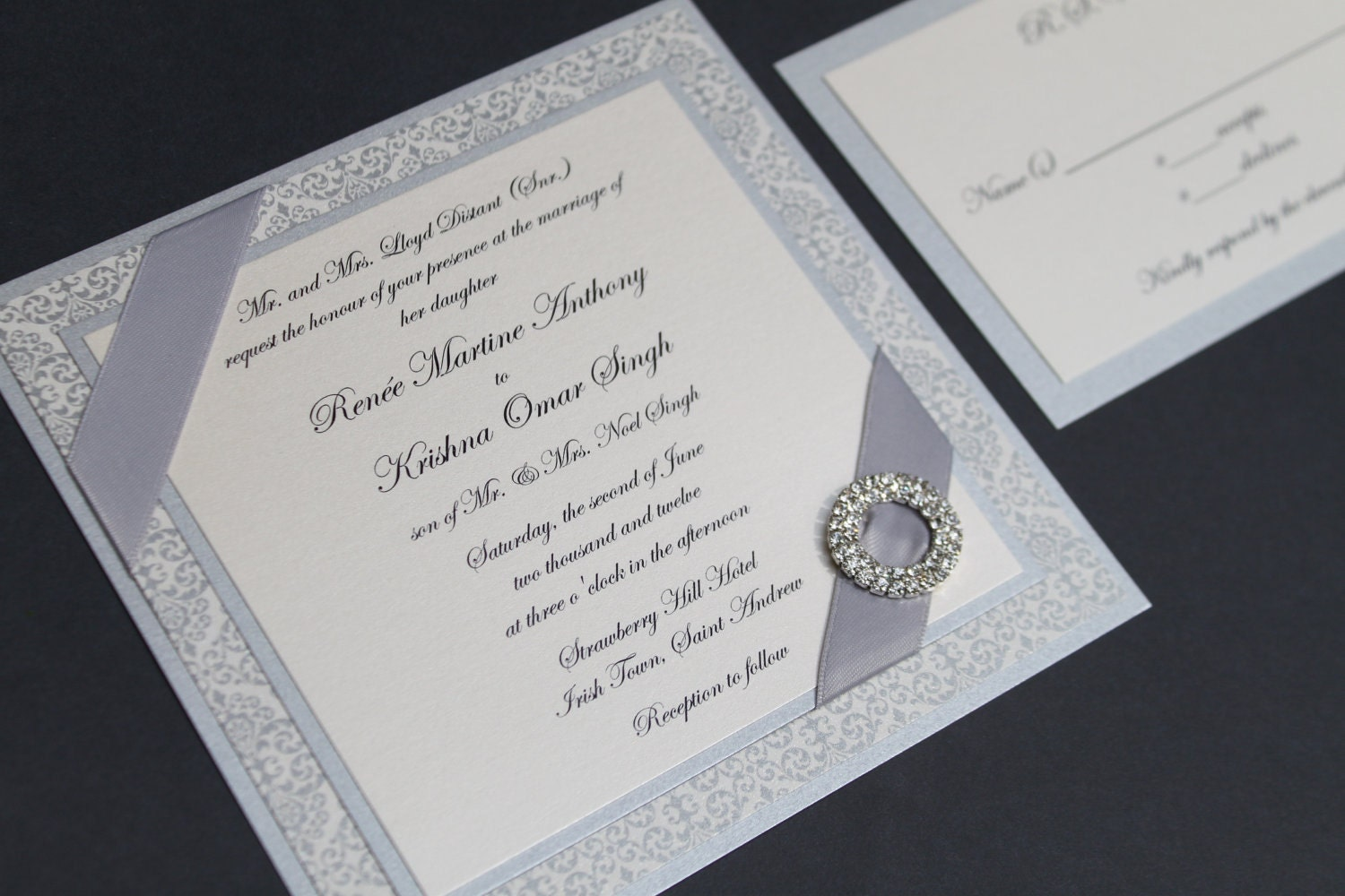 Elegant Wedding Invitation Formal Invitation Elegant Opulence