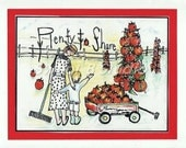 gardening greeting card tomatoes country mom son