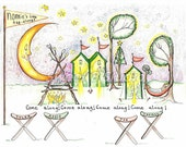 camp camping camper nature customchildrens names added personalized print 8.5 x11
