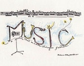 Music 5 x7 Print