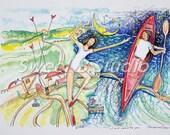 kayak across the ocean amd world for your love 8x11 print